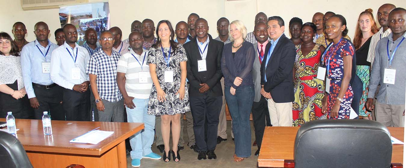 Ms Annclie Kavuma (Centre in Grey Suit) represented the Swedish Ambassador to Uganda at the launch of the Training Programme in Migration Health in partnership with the International Organization for Migration (IOM), 30th October 2016, Senate Conference Hall, Makerere University, Kampala Uganda