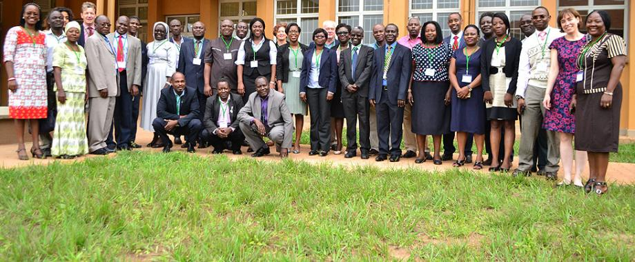 A group photo of CAPREx Fellows and Administrators attending the Annual General Meeting 2017 that started on 18th September 2017 at Makerere University. CAPREX Fellows from University of Ghana and hosts - Makerere University presented their research findings at the two-day meeting beginning 18th to 19th September 2017 at Senate Building.