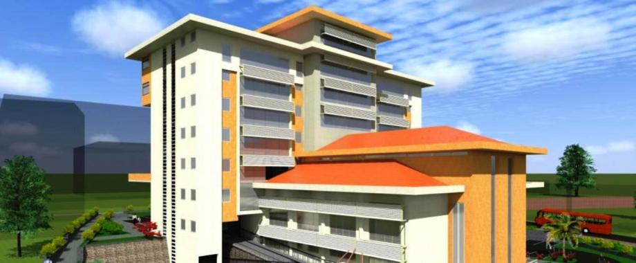 An artistic impression of the completed Central Teaching Facility 2 currently under construction next to CoBAMS with funding from the US$29.2million AfDB-HEST project