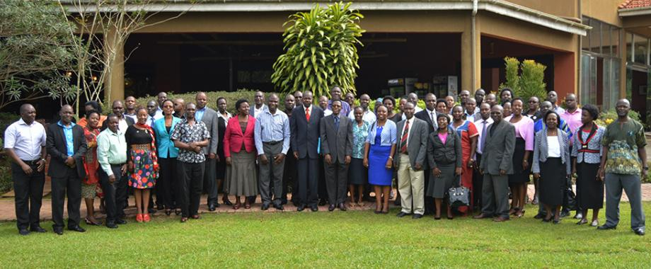 Directorate of Research and Graduate Training has organised a workshop to review policies and guidelines geared towards increased efficiency in postgraduate studies and research. The three-day workshop was officially opened by First Deputy Vice Chancellor(Academic Affairs), Dr. Ernest Okello Ogwang at  Royal Suites-Kampala on 24th May 2018.
