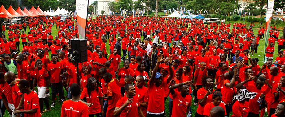 On Sunday 14th May 2017, thousands of participants comprising staff, students, alumni, friends and well-wishers assembled in the Freedom Square for the Makerere University Endowment Fund Run, aimed at mobilizing funds for the construction of the Students' Centre.