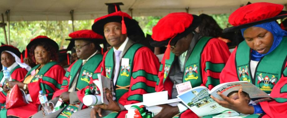 PhD Graduands at the 66th Graduation Ceremony, January 2016, Makerere University, Kampala Uganda