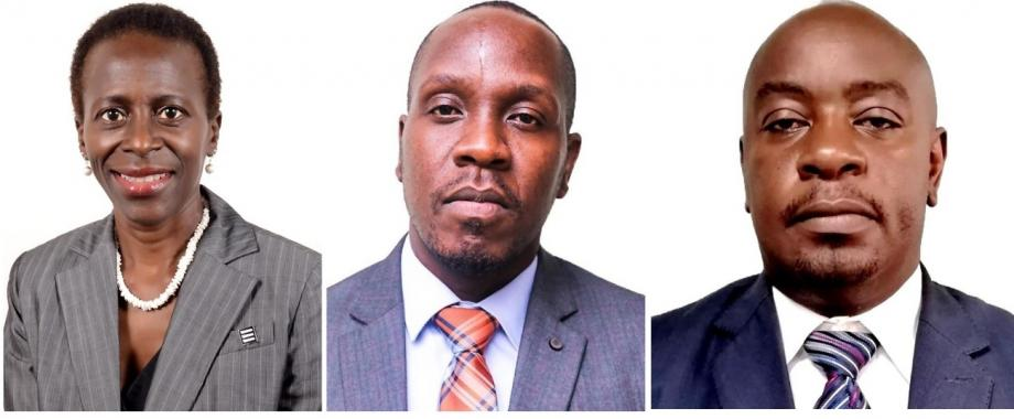 A montage of Dr. Olive Kobusingye, Frederick Oporia and Mr. Sowed Sewagudde, speakers at the World Drowning Prevention Day Webinar organized by the Ministry of Water and Environment in collaboration with the Makerere University School of Public Health, 27th July 2021.