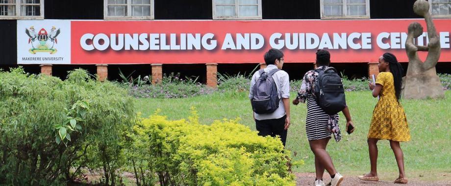 Students walk towards the Counselling and Guidance Centre, Plot 106, Mary Stuart Road (Opposite Mary Stuart Hall), Makerere University, Kampala Uganda