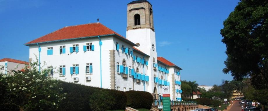 The Makerere University Main Building as seen from the Western view, November 2012