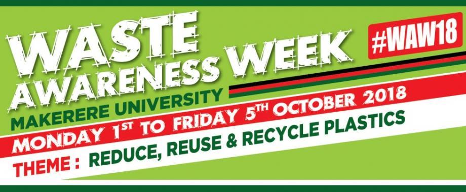 Sustainability Program Waste Awareness Week 2018, Makerere University, Kampala Uganda