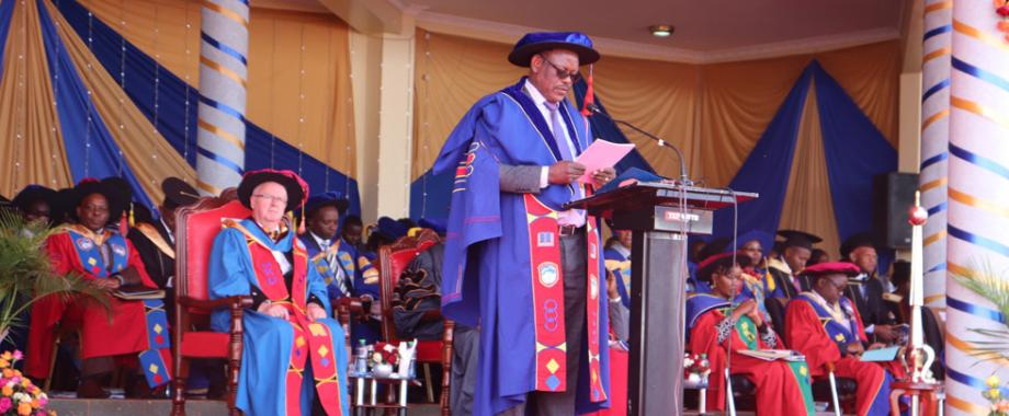 Mak Vice Chancellor Prof. Barnabas Nawangwe officiated as Guest Speaker at the 14th Graduation Ceremony of Mount Kenya University on 3rd August 2018.