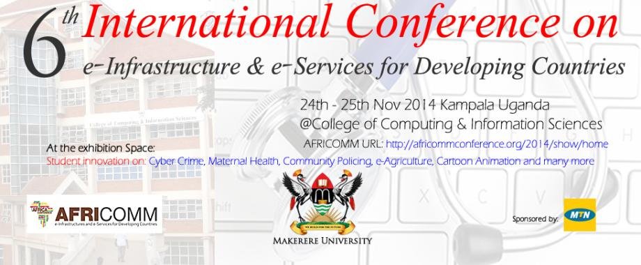 International AFRICOMM  Conference on 24 - 25th Nov. 2014